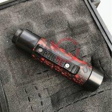 画像2: 《メカニカルMOD》新色【PURGE MODS】Slim Piece Black Red splatter RDA Set (2)