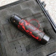 画像4: 《メカニカルMOD》新色【PURGE MODS】Slim Piece Black Red splatter RDA Set (4)