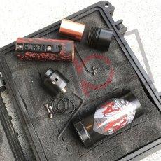 画像7: 《メカニカルMOD》新色【PURGE MODS】Slim Piece Black Red splatter RDA Set (7)