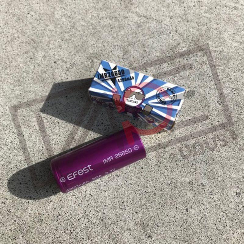 画像1: 26650 バッテリー Efest IMR 4200mAh 50Aフラットトップバッテリー イーフェスト 電子たばこ flattop battery vape 電池 リチウムマンガン (1)