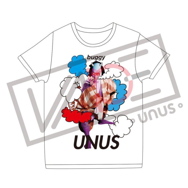 画像1: UNUS × buggy コラボ Tシャツ01 オリジナル グッズ  Tシャツ ホワイト (1)