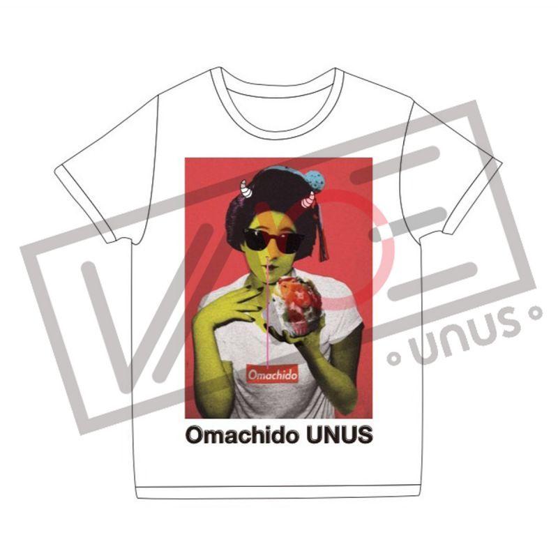 画像1: UNUS × buggy コラボ Tシャツ02 おまち堂 オリジナル グッズ  Tシャツ ホワイト (1)
