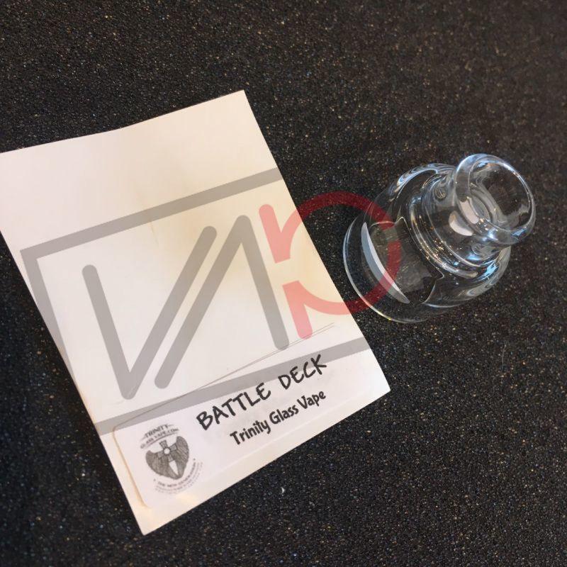 画像1: 《ガラスキャップ》2POST BATTLE DECK 20mm Trinity Glass Cap 《AVID LYFE》 クリア カスタム アクセサリー 電子タバコ vape (1)
