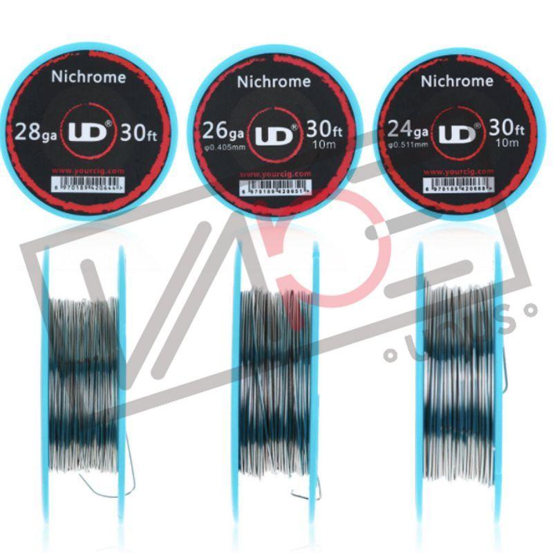 画像1: ステンレスワイヤー Ni80 / UD 30ft (10m) ビルド用ワイヤー Ni80 Wire Nichrom ニクロム ビルド 電子タバコ vape (1)