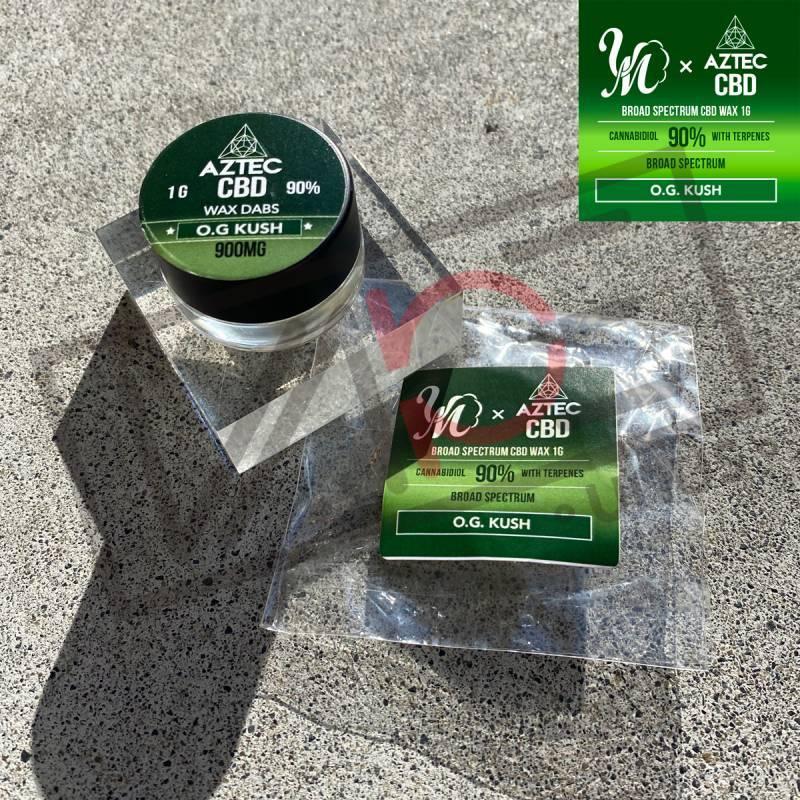 画像1: 《CBD》 AZTEC CBD&VapeMania LimitedEdition ブロードスペクトラムCBD90% ワックス 1G 和み -Nagomi- O.G. KUSH (1)