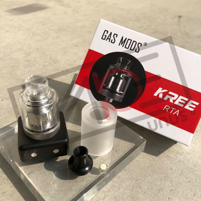 画像1: KREE 22mm アトマイザー RTA 《 GAS MODS 》シングル ビルド アトマイザー 電子タバコ vape (1)